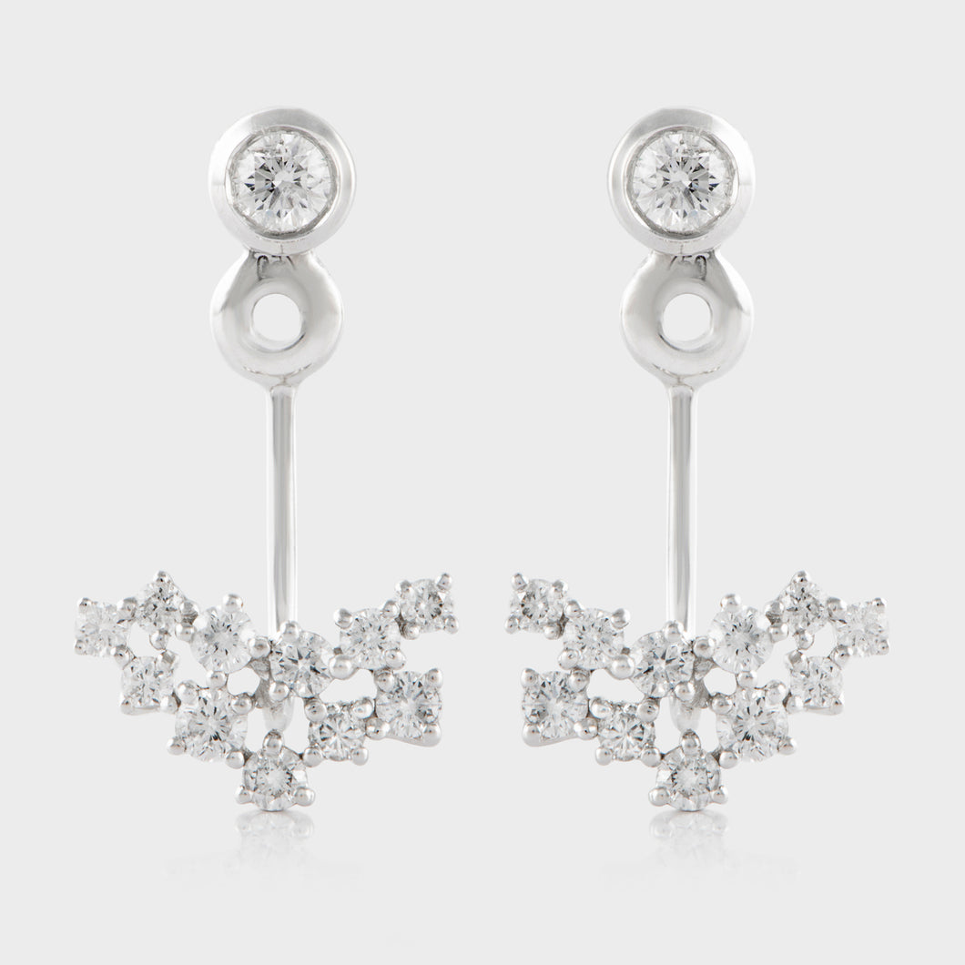 Diamond Bezel Earring Jackets with 18K White Gold