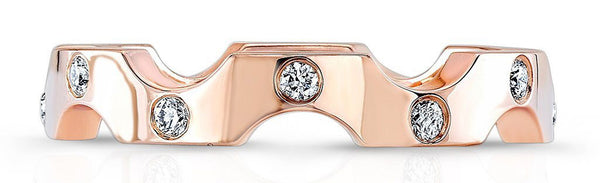 Harmony Rose Gold Wedding Band for Women