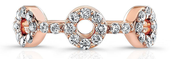 The Knot Rose Gold Wedding Band for Women's