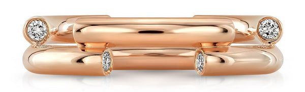 Level Rose Gold Womens Wedding Band