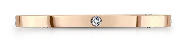 OM Simple Diamond Woman Rose Gold Wedding Band