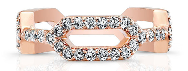 Regal Contemporary Rose Gold Wedding Band for Women