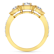 Load image into Gallery viewer, Three Stone Engagement Ring Giselle