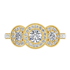 Three Stone Engagement Ring Giselle