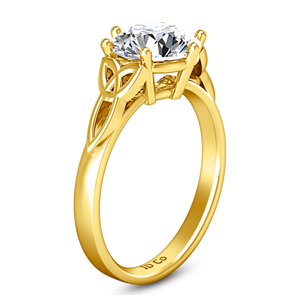 Solitaire Engagement Ring Fiona Celtic Knot