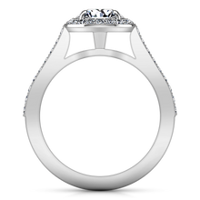 Load image into Gallery viewer, Halo Engagement Ring Violet