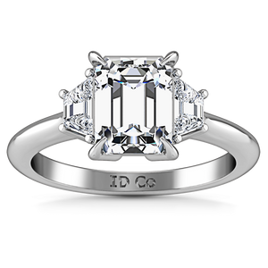 Three Stone Cushion Cut Engagement Ring Celesse
