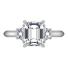 Load image into Gallery viewer, Three Stone Cushion Cut Engagement Ring Celesse