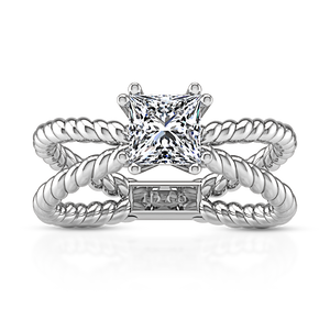 Solitaire Princess Cut Engagement Ring Infinity