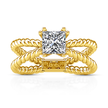 Load image into Gallery viewer, Solitaire Princess Cut Engagement Ring Infinity
