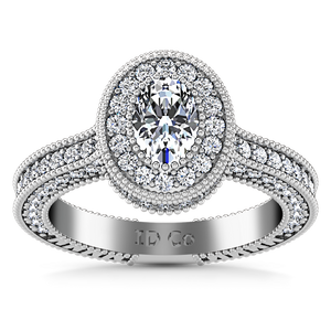 Halo Oval Engagement Ring Hannah