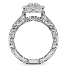 Load image into Gallery viewer, Halo Oval Engagement Ring Hannah