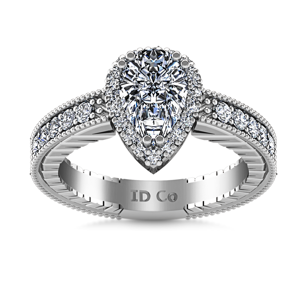 Halo Engagement Ring Candence