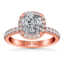Load image into Gallery viewer, Halo Cushion Cut Engagement Ring Jessica
