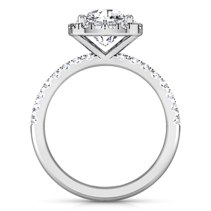 Halo Cushion Cut Engagement Ring Jessica