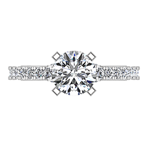 Pave Engagement Ring Eden
