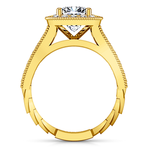 Halo Cushion Cut Engagement Ring Geneve