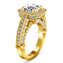 Load image into Gallery viewer, Halo Cushion Cut Engagement Ring Leilani
