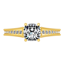 Load image into Gallery viewer, Pave Cushion Cut Engagement Ring Primrose