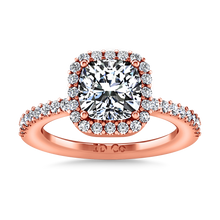 Load image into Gallery viewer, Halo Cushion Cut Engagement Ring Claire