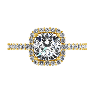 Halo Cushion Cut Engagement Ring Claire
