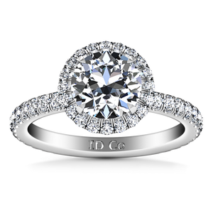 Halo Engagement Ring Clayton