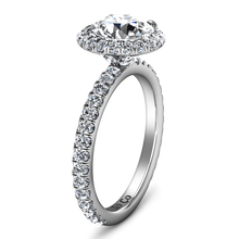 Load image into Gallery viewer, Halo Engagement Ring Clayton