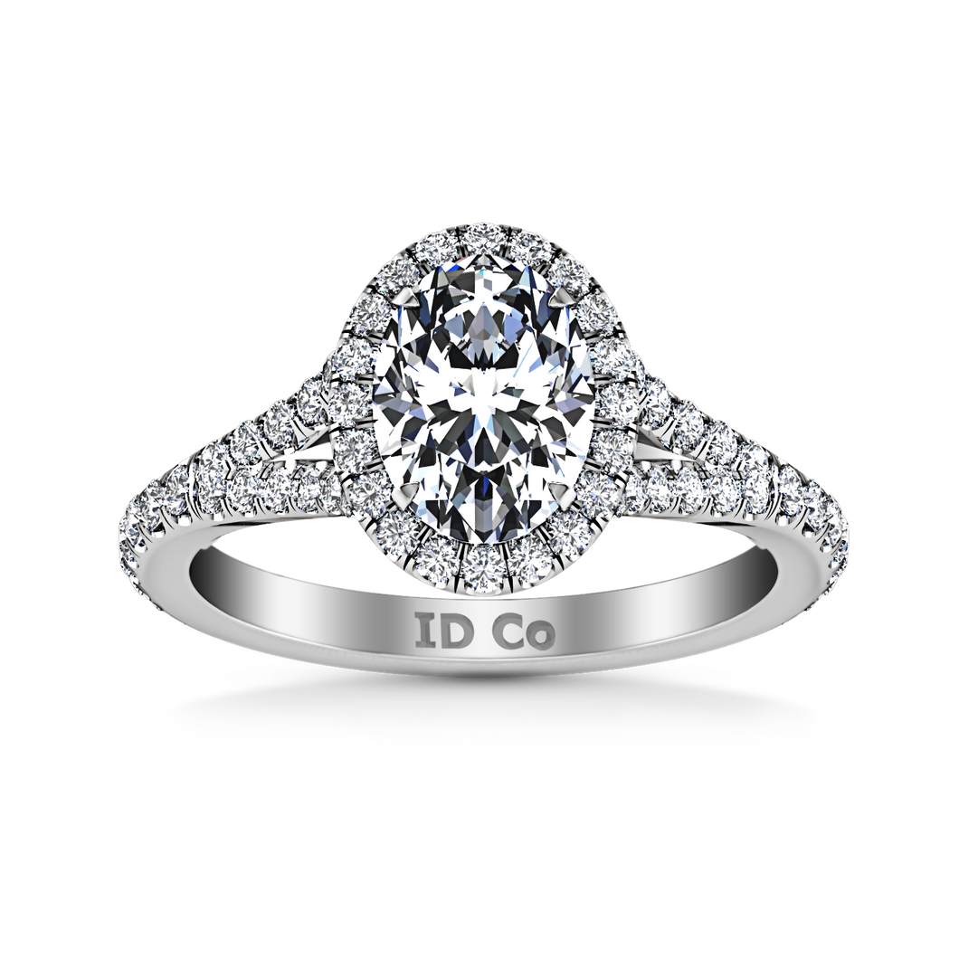 Halo Oval Engagement Ring Melody