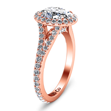Load image into Gallery viewer, Halo Oval Engagement Ring Melody