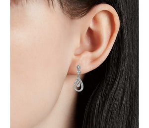 Teardrop Diamond Dangle Earrings