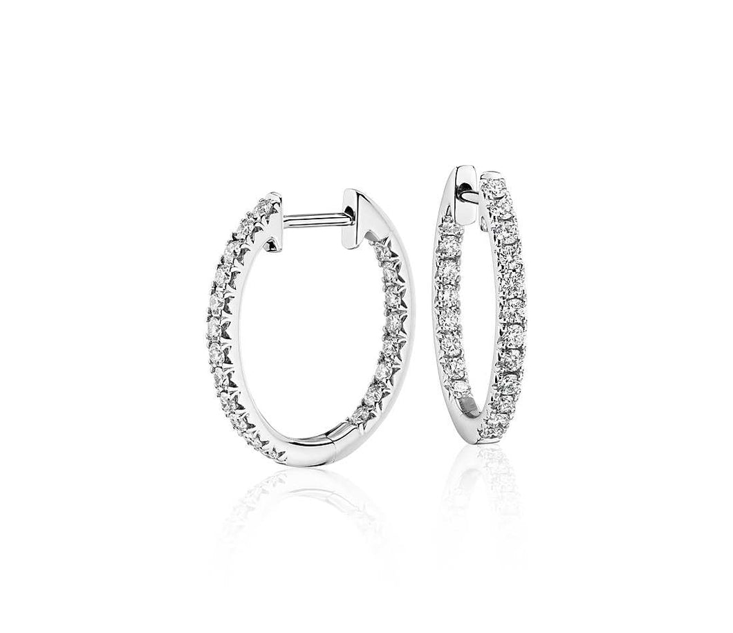 Diamond Pavé Hoop Earrings