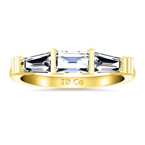Diamond Wedding Band Structural Tapered Baguette