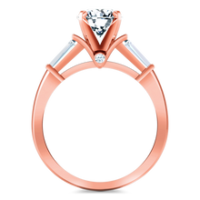 Load image into Gallery viewer, Pave Engagement Ring Classic Baguette