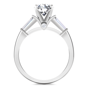 Pave Engagement Ring Classic Baguette
