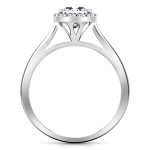 Halo Princess Cut Engagement Ring Lumiere