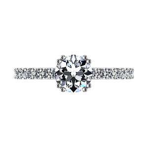 Pave Engagement Ring Michelle