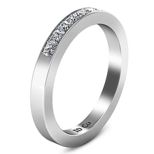 Load image into Gallery viewer, Diamond Wedding Band Rebecca