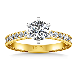 Pave Engagement Ring Arabesque