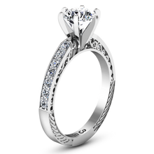Load image into Gallery viewer, Pave Engagement Ring Arabesque