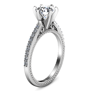 Pave Engagement Ring Embrace