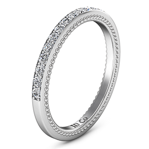 Diamond Wedding Band Embrace