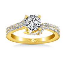 Load image into Gallery viewer, Pave Engagement Ring Amber