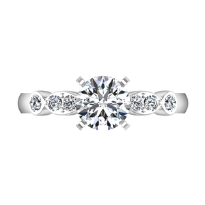 Pave Engagement Ring Rachel