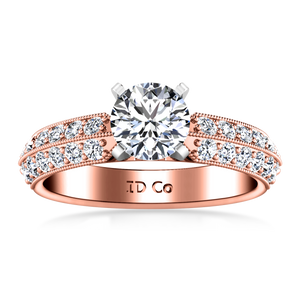 Pave Engagement Ring Amore