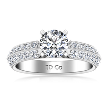 Load image into Gallery viewer, Pave Engagement Ring Amore