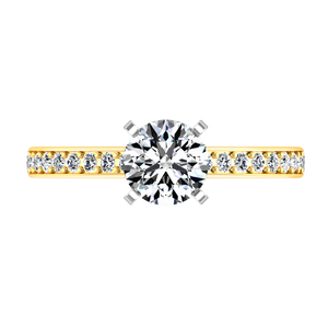 Pave Engagement Ring Belle