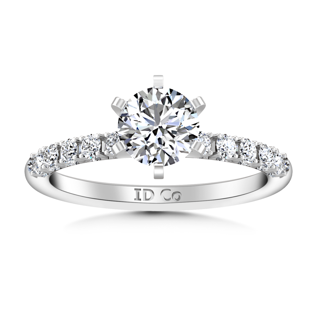 Pave Engagement Ring Grace