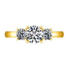 Load image into Gallery viewer, Three Stone Engagement Ring Classic