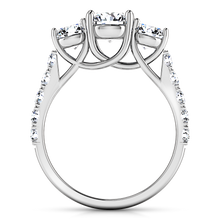 Load image into Gallery viewer, Three Stone Engagement Ring Victoria