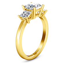 Load image into Gallery viewer, Three Stone Engagement Ring Adonna